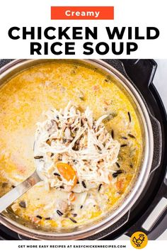 This yummy pressure cooker soup recipe is sure to warm you up from the inside out! Making this chicken wild rice soup in the Instant Pot is so simple and the result is a decadent and nutritious creamy soup that everyone will love. #instantpotsoup #chickensoup #pressurecookersoup #comfortfood Chicken Wild Rice Soup, Pre Cooked Chicken, Chicken Soups, Yummy Chicken Recipes, Yum Yum Chicken, Creamy Chicken, Pressure Cooker Soup Recipes, Chicken Appetizers, Sauteed Vegetables