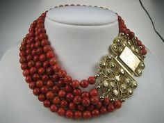Call me oldfashioned, but I love traditional Dutch Blood Coral Jewelry!