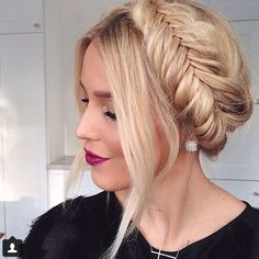 Adorable fishtail braided crown. Get this look using HALOCOUTURE Extensions! www...