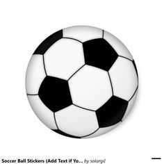 Soccer Ball Stickers (Add Text if You Want)