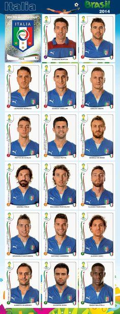 PANINI - Equipo - Italia - Mundial Brasil 2014