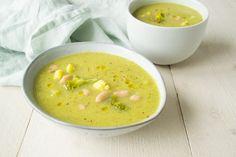 Courgette, Broccoli & Bloemkool Soep met Witte Bonen