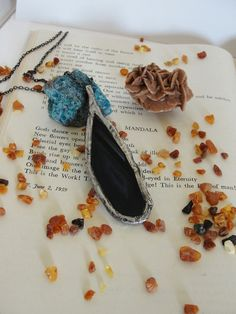 Pendant,+Necklace,+Agate+slice+from+Jewelry&Hand+Made+by+DaWanda.com
