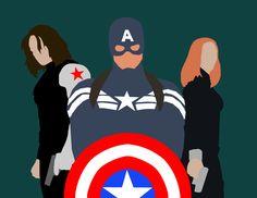 winter soldier | Minimalist Marvel: Captain America: Winter Soldier by MaclimesZero