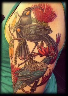 Kiwiana piece by done last week on Erin Bird Tattoo Sleeves, Sleeve Tattoos, New Zealand Tattoo, Kiwiana, Tattoo Inspiration, Tattoo Designs, Tattoo Ideas, I Tattoo, Tatoos