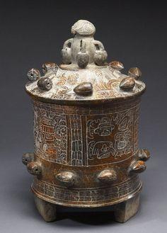 Mayan chocolate pot