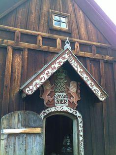 Door to Nore stavkirke, Norway