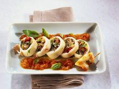 Gefüllte Tintenfischtuben ist ein Rezept mit frischen Zutaten aus der Kategorie Tintenfisch. Probieren Sie dieses und weitere Rezepte von EAT SMARTER!