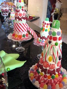 Making Candy Christmas Trees - Southern Hospitality