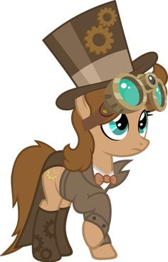 #1666247 - artist:fletcherthehuntress, clothes, earth pony, female, goggles, hat, mare, oc, oc:briar gearwell, pony, safe, simple background, solo, steampunk, suit, top hat, transparent background - Derpibooru - My Little Pony: Friendship is Magic Imageboard My Little Pony Comic, My Lil Pony, My Little Pony Pictures, Imagenes My Little Pony, Little Poni, Cute Ponies, Mlp Comics, My Little Pony Merchandise, Pokemon