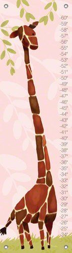 Oopsy daisy Fine Art for Kids Gillespie Giraffe Growth Chart Powder Pink 12 X 42 >>> Check this awesome product by going to the link at the image. (This is an affiliate link and I receive a commission for the sales)