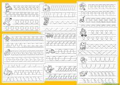 Grafomotricidad para Educación Infantil - Web del maestro Graph Paper Art, English Lessons, Pisa, Sheet Music, Periodic Table, Homeschool, Notebook, Bullet Journal, Letters