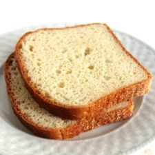 English Muffin Toasting Bread from King Arthur Flour - This recipe is so easy! I make it with half white, half whole wheat pastry flour, olive oil and water.  I have also done sweet versions with orange juice and zest, raisins, cranberries, and other things of that sort.