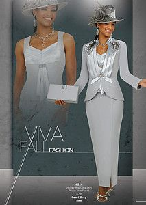 Champagne Suits For Women | Champagne Italy 4014 Pearl Gray or Red Womens Church Dress Suit sizes ...