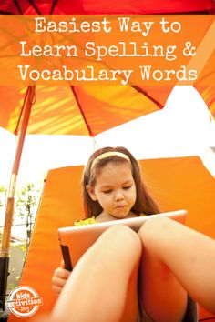 Absolutely the easiest Way to Learn Spelling Words {and Vocabulary too} - The kids can work independently.
