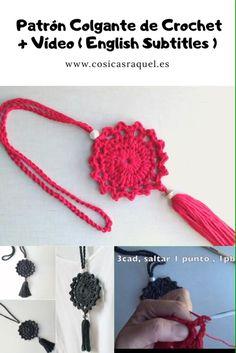 Crochet Necklace Pattern, Crochet Bookmark Pattern, Crochet Jewelry Patterns, Crochet Bookmarks, Crochet Flower Patterns, Crochet Accessories, Crochet Motif, Crochet Flowers, Crochet Stitches