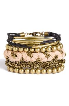 Cara Accessories Sliced Leather Studded Bracelet available at can be found at Nordstrom Marc Jacobs Michael Kors Girls Accessories, Jewelry Accessories, Fashion Accessories, Cute Jewelry, Jewelry Box, Jewelry Making, Bling Bling, Street Mode, Fashion Shoes