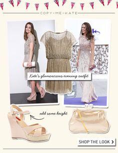 Copy Kate's glamorous evening wear