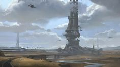 fantasy clouds cityscapes futuristic buildings fantasy art spaceships science fiction vehicles forer_www.wallpapermay.com_27.jpg 728×409 pixels