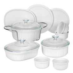 CorningWare 1083955 French 14-Piece Bakeware Set, White CorningWare,http://www.amazon.com/dp/B002G2FWNA/ref=cm_sw_r_pi_dp_AtcFsb0YF6BT2RJD