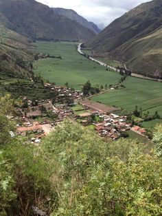 Where llamas roam—the Sacred Valley in the Andes.