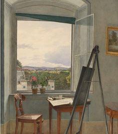 View from the Artist's Studio in Alservorstadt toward Dornbach, 1836 by Jakob Alt 1836 Albertina Museum