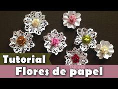Como fazer flor de papel com furadores | Tutorial | PAP - YouTube