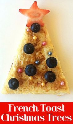 A super simple and healthy holiday breakfast or snack idea.