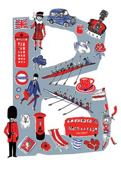 My favorite British things - B for British by Josie Jo print on www.themarinscoop.blogspot.com
