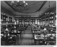 Operations Department of the Western Union Telegraph Building - America's Gilded Age era, in NYC - c.1875. ~ {cwl} ~ (Image: Early Office Museum)