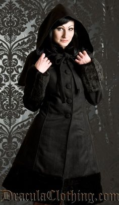 <p>This amazingly warm coat is perfect for the coldest winter days. It features a removable cape and extra large hood - every hair will fit inside! It's made from a wool material, with quality satin lining, and cuffs, collar and bottom trim in faux fur. With the lacing in the back, the coat can be tightened about 16 cm in the waist.</p><br /> <p>Fabric: no stretch</p><br /> <p>Material: 50% wool, 50% polyester</p>