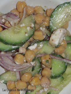 Salade de pois chiche à la grecque #légère #light