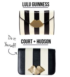 Lulu Guinness Lip Clutch DIY @Sonja (Pintester) Foust