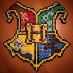 Gryffindor - Harry Potter perler beads by x19james92x