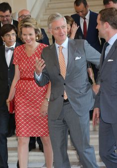 June 2013 - Prince Philippe of Belgium with his wife Princess Mathilde