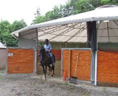 round pen cover, covered round pen, equi-cover