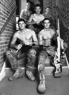 Sexy stairwell: It is hoped the 2013 calendar will raise as much as £50,000 for the Royal Marines Charitable Trust
