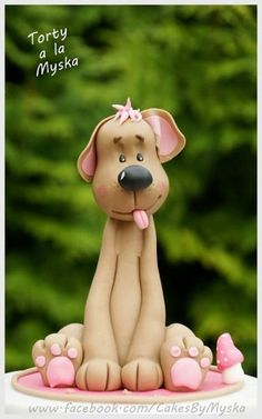 Fondant Dog Tutorial Tutorial on Cake Central