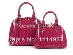 48.90$  Buy here - http://alim4a.worldwells.pw/go.php?t=1706256176 - 2014 shell bag genuine leather women's handbag japanned leather elegant fashion handbag women's pure leather bag small Medium 48.90$