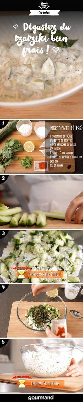 Retrouvez notre recette et dégustez votre tzatziki à l'apéro