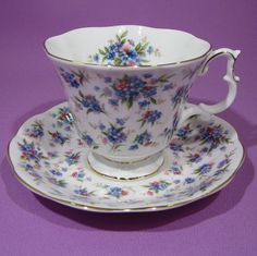 ROYAL ALBERT COVENT GARDEN TEA CUP AND SAUCER NELL GWYNNE SERIES GAINSBOROUGH