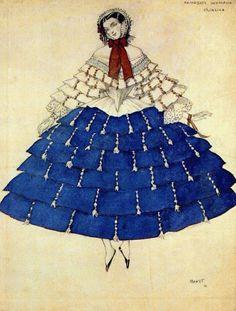 """Леон Бакст «Эскиз костюма к балету """"Карнавал""""» レオン・バクスト『バレエ《カルナヴァル》衣装のためのエスキース』(1910) #バレエリュス pic.twitter.com/XQq2VlnYHE"""