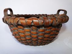 19TH C TWO HANDLED BASKET