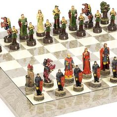 Robin Hood  the Sheriff of Nottingham Chessmen  Greenwich Street Chess Board From Spain -- Visit the image link more details.