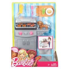 Check out the Barbie Barbeque & Puppy Playset at the official Barbie website. Explore the world of Barbie today! Barbie Doll Set, Barbie Sets, Doll Clothes Barbie, Barbie Doll House, Barbie Dream, Barbie Dog, Barbie Camper, Barbie Stuff, Mattel Barbie