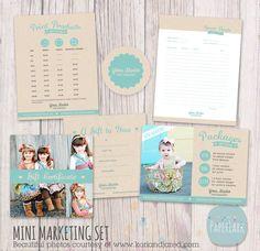 Mini Marketing Set  Photoshop templates IP006  by PaperLarkDesigns, $24.95 #minimarketingsets #seniorphotography #photographytemplates #photographytemplate #photographerstemplate