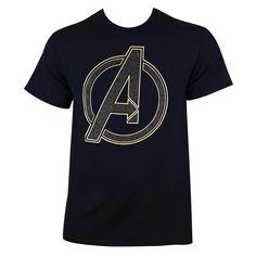 Men's Avengers Glitter Logo T-shirt
