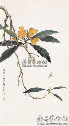 黃君璧 Japan Painting, Ink Painting, Watercolor Paintings, Chinese Painting Flowers, E Flowers, Chinese Brush, China Art, Watercolor Techniques, Flowering Trees