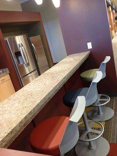 Colorful Flock Stool Install #design #interiordesign #furniture