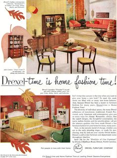 DREXEL 1959 Declaration - STEWART MACDOUGALL & KIPP STEWART - House Beautiful Oct 1959